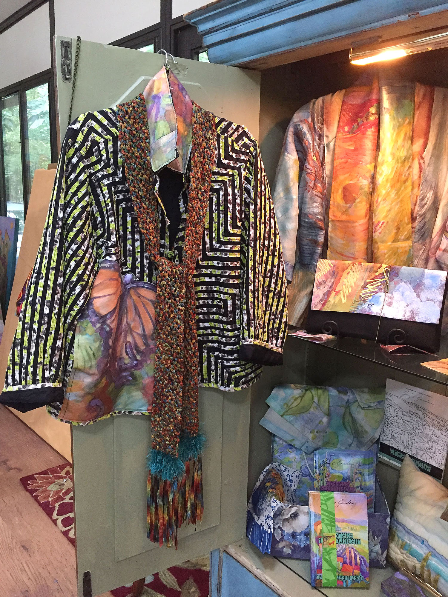 what inspires artist, butterfly jacket