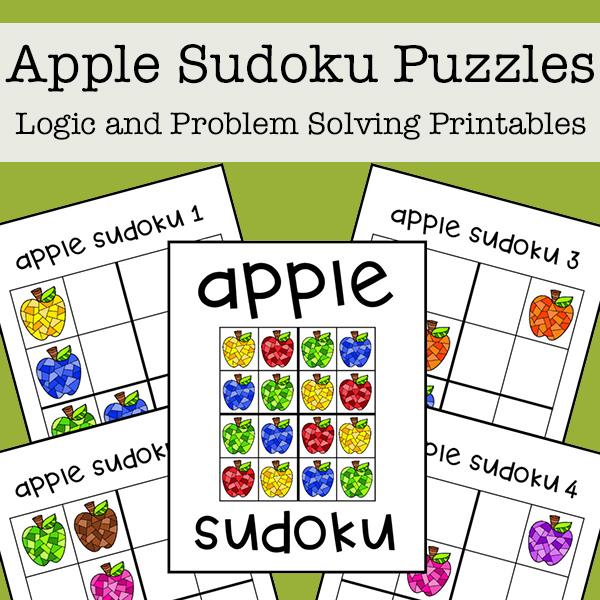 Apple Sudoku Printable Puzzles