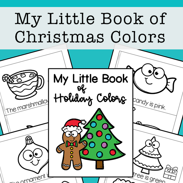 My Little Book of Christmas Colors Mini Book