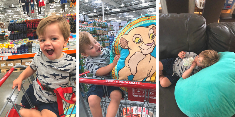 Trip to Costco with a toddler