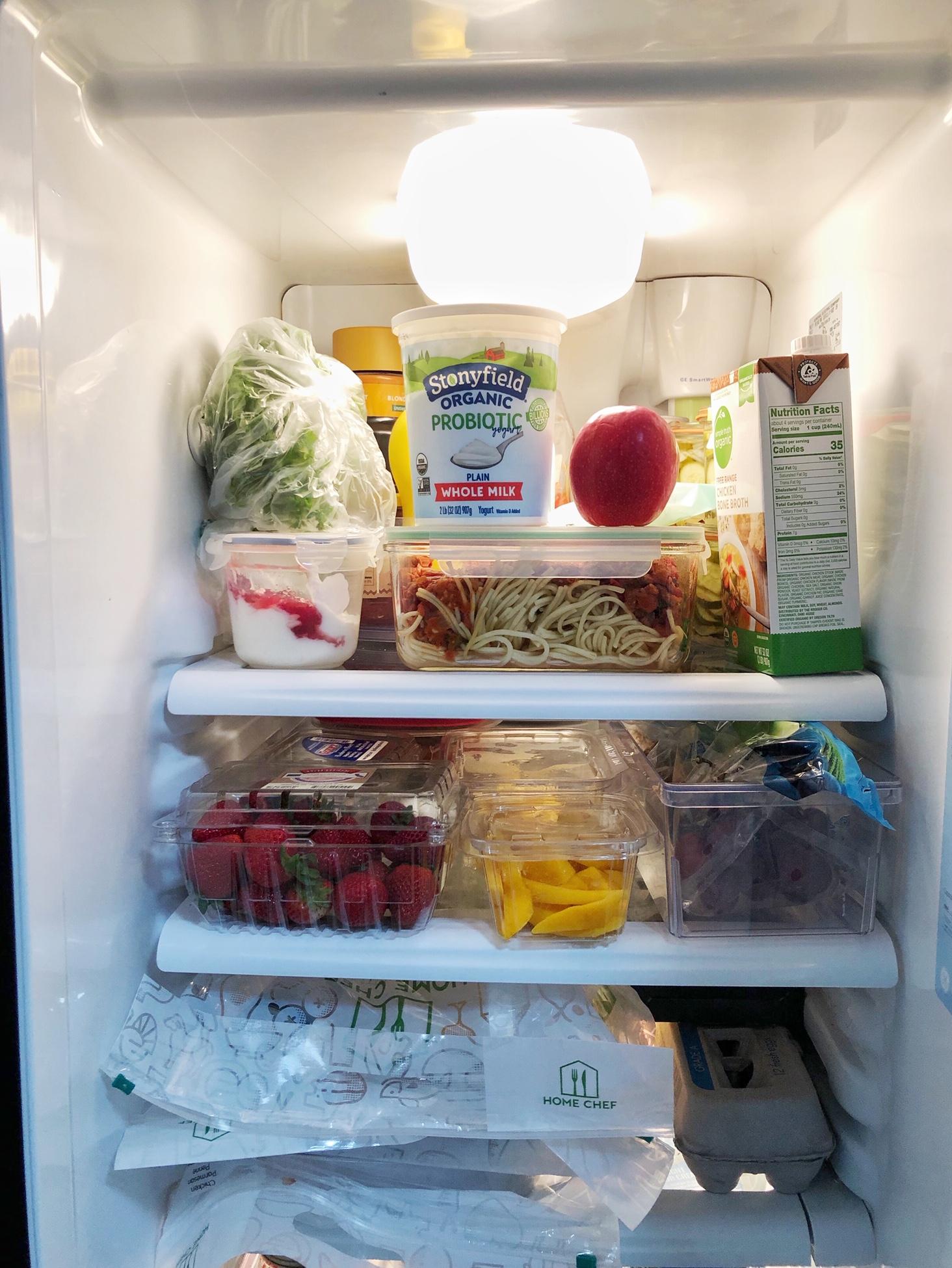 Stocking the fridge