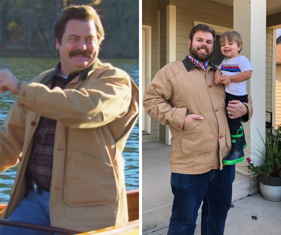 Who wore it better, male who wore it better, field jacket, Ron Swanson jacket