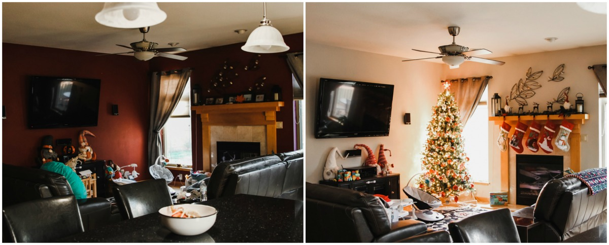 Living room paint makeover